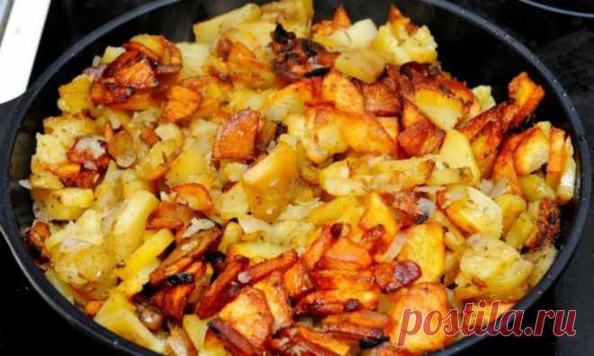 Жареная картошка: не прилипает и не пригорает