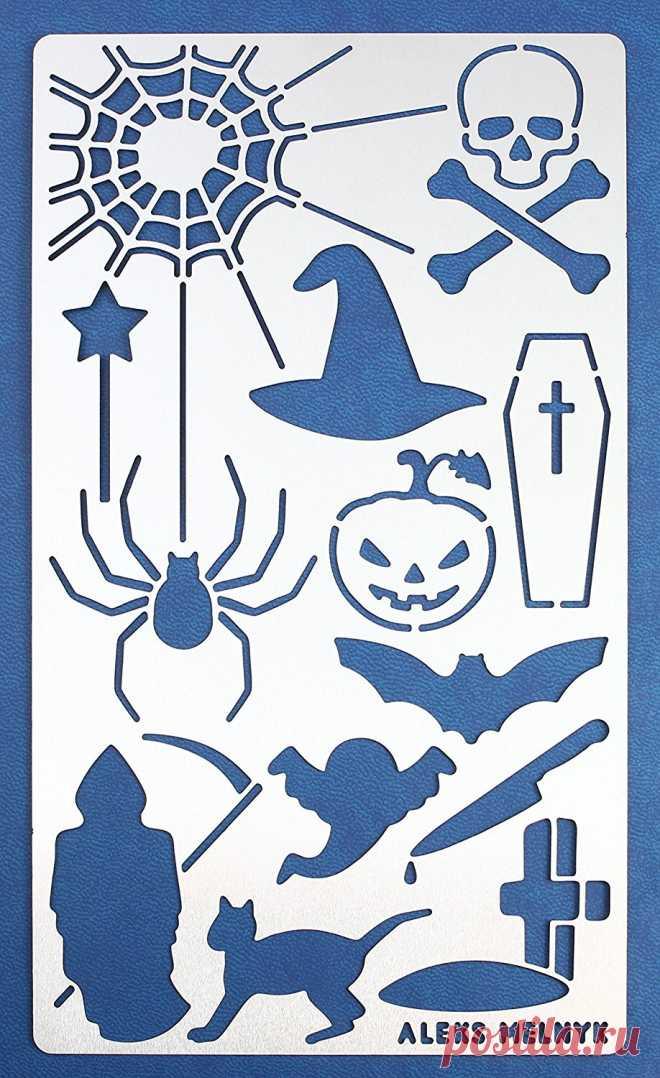Aleks Melnyk 17 Bullet Journal Pochoir Métal Halloween Acier