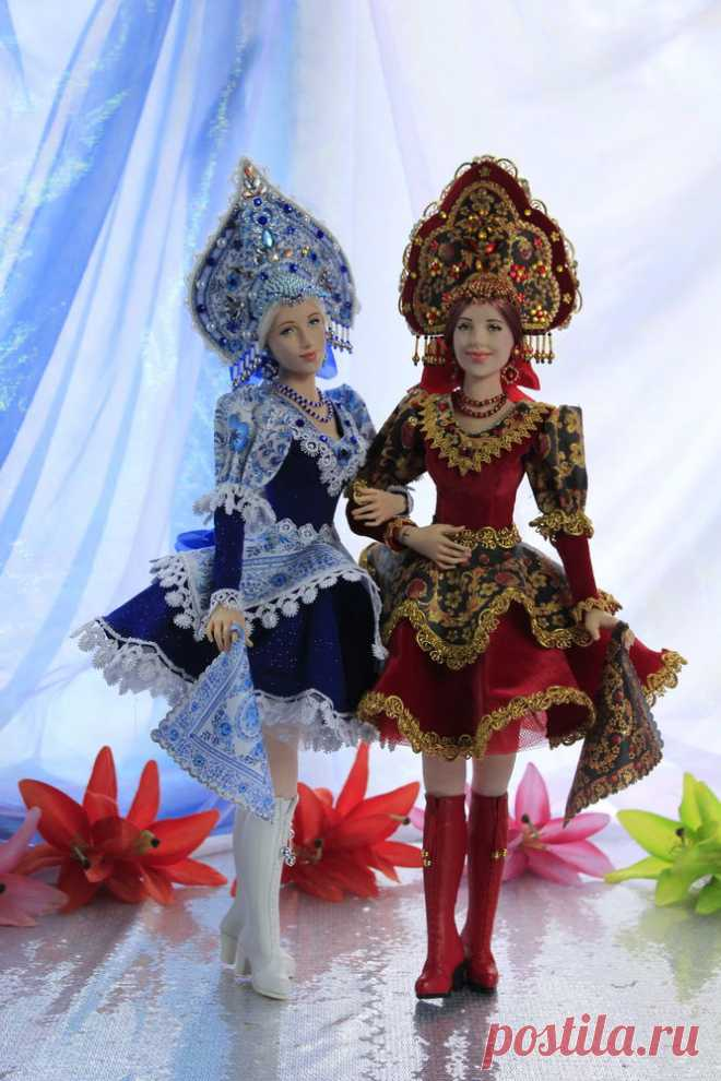 Alyonushka's dolls Gzhel and Khokhloma (photos in addition to work) - A fair of Masters - handwork, handmade