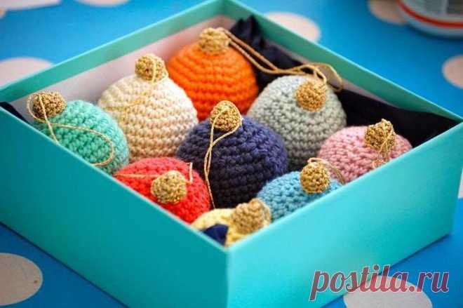 Идеи вязаных  елочных игрушкек    Ольга knits спицами и крючком   Яндекс Дзен
