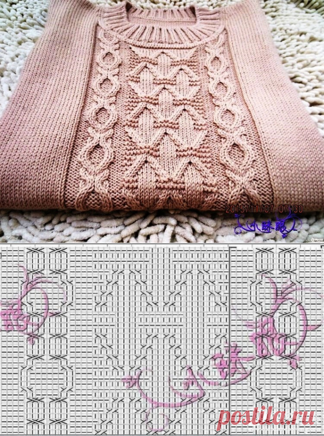 PATTERN FOR THE SWEATER SPOKES