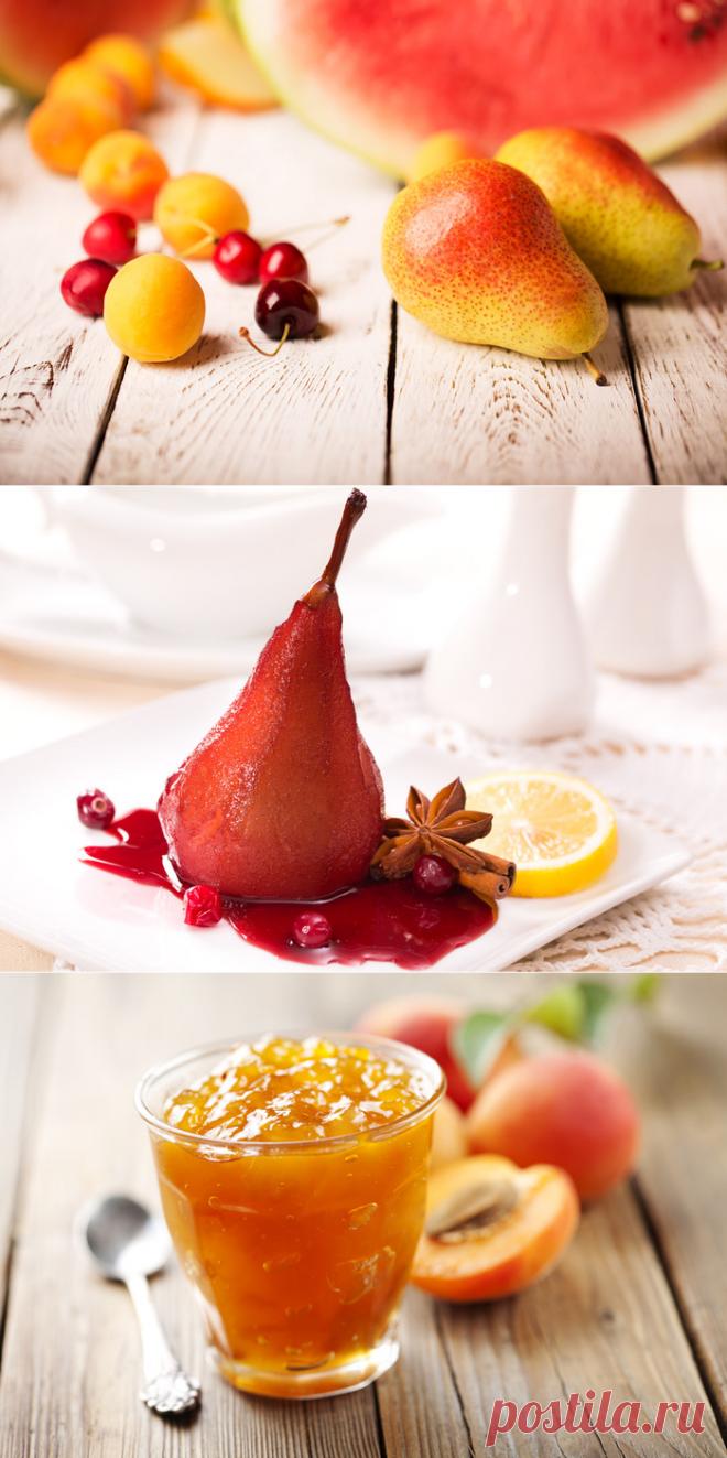 Успейте приготовить груши в вине с паштетом из чернослива, французские тосты с маком, медом и малиной или повидло из персиков - Газета.Ru