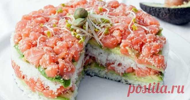 Всеми любимые суши в виде салата: вкусная закуска для праздника