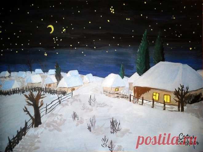 черные картина ночь перед рождеством этот конный завод