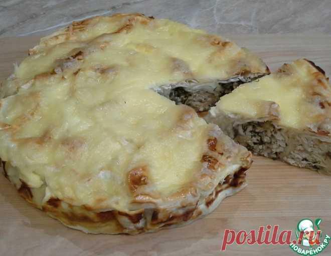 Пирог из лаваша с курицей и баклажанами – кулинарный рецепт