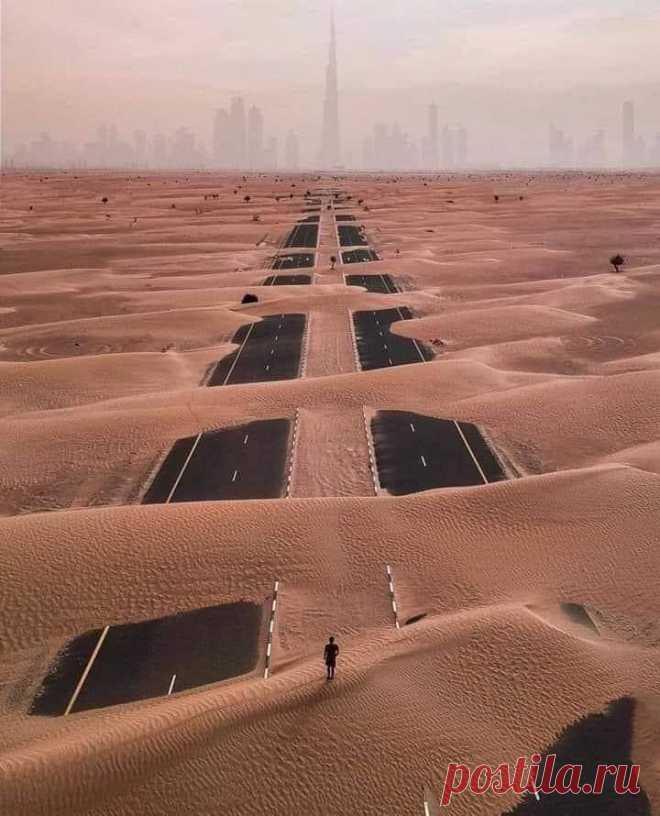 Песчаная буря в Дубай
