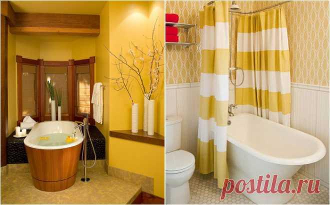Желтый цвет в ванной комнате — Pro ремонт
