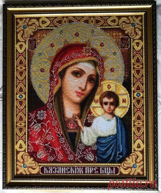 Счастливая Мать большой крест стежка Tapestry Богоматери | Etsy
