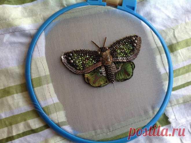 Bordamos por los abalorios a la mariposa elegante. La parte primero - la Feria de los Maestros - la labor a mano, handmade