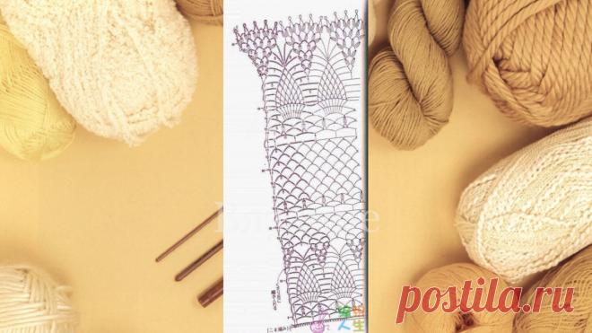 20 моделей палантинов со схемами | Вязание | Яндекс Дзен