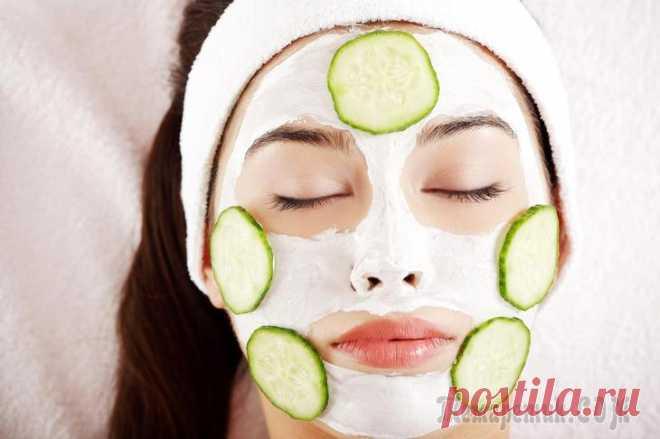 Огуречная маска для красоты лица