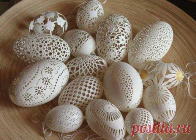 Ажурные пасхальные яйца Фрэнка Грома