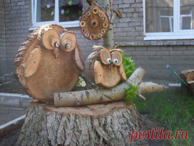 Поделки в детский сад из дерева фото