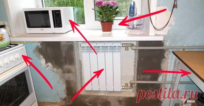 Когда хочется просторной кухни в хрущевке! 10 способов расширить ее без капитального ремонта.