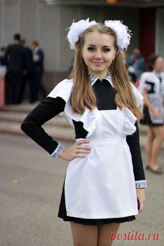 Как сшить фартук для школьного платья фото 466