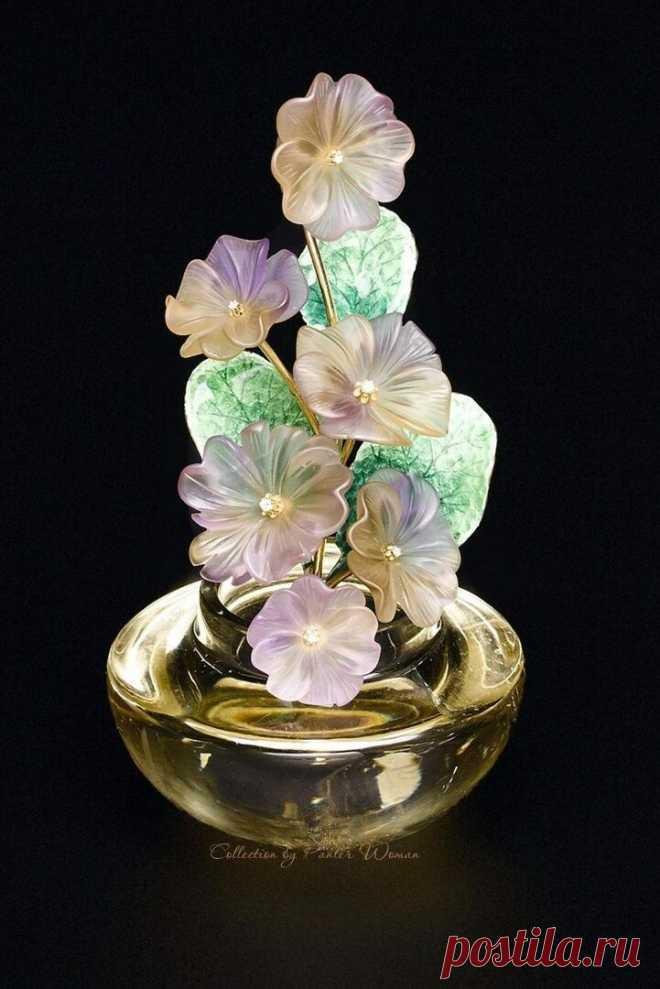 Цветочные композиции - Резьба по минералам
