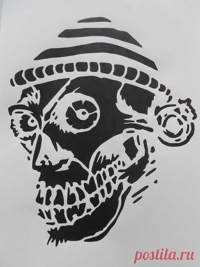 Schablone Skull mit Mütze für Textilg. und v.m.  auf A4 • EUR 2,80 SCHABLONE SKULL mit Mütze für Textilg. und v.m.  auf A4 - EUR 2,80. Schablone Stencil auf A4 * Skull mit Mütze Gr. H x B 23 x 18 cm Sie erhalten eine wiederverwendbare dünne Klarsicht - Kunststoffschablone ( Bild dient nur zur besseren Darstellung der Schablone ) geeignet für Airbrushtechnik, fürTextilgestaltung, für Bodypainting, Wanddeko, Glas , Holz, Möbel, Acryl, Leinwand, Modellbau, Basteln , Tortendek...