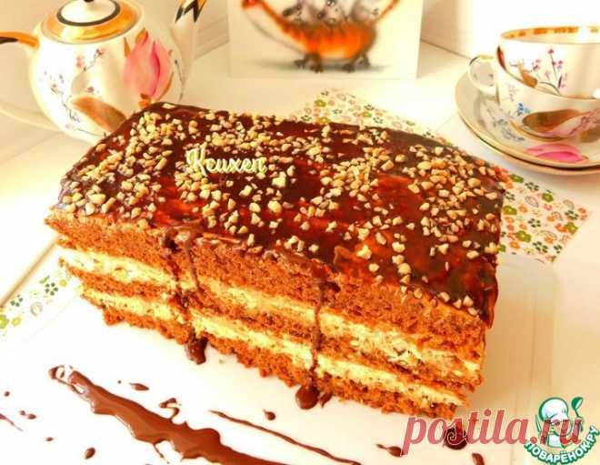 """Торт с безе по мотивам """"Сникерс"""" – кулинарный рецепт"""