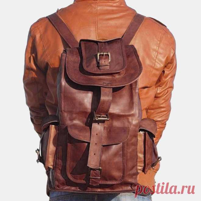 Women Vintage Multi-pocket Large Capacity 15.6 Inch Laptop Backpack - US$73.99