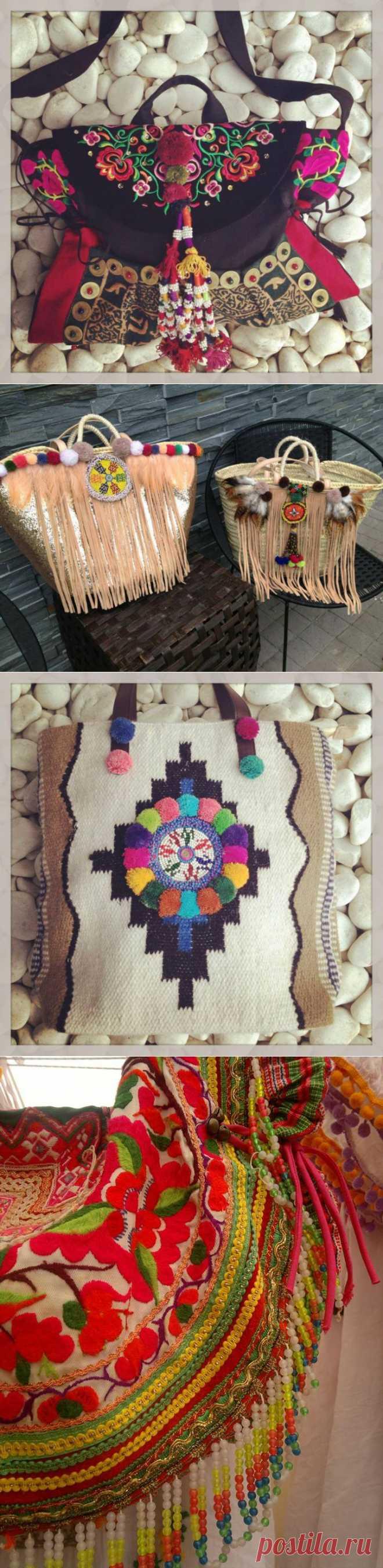 Красочные сумки в стиле фольк (трафик) / Сумки, клатчи, чемоданы / ВТОРАЯ УЛИЦА