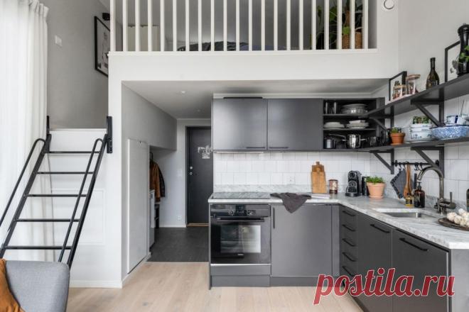Маленькая теплая дача 30 м²: высокие потолки, спальня на втором ярусе, отопление с помощью теплого пола | ZAGGO.RU | Яндекс Дзен