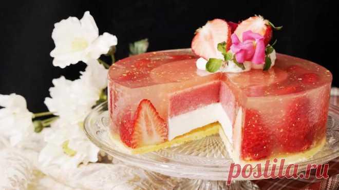 Торт желейный с печеньем без выпечки: рецепт с фото . Милая Я