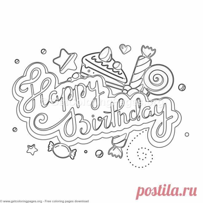 9 Happy Birthday Coloring Pages – GetColoringPages.org