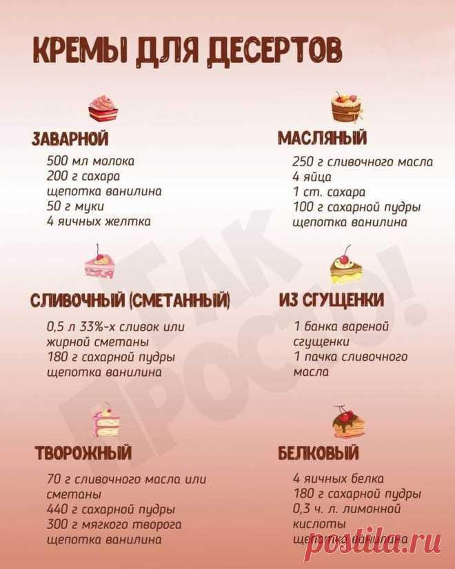 Лучшие рецепты сладкого крема для ваших кулинарных шедевров