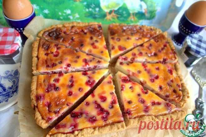 Норвежский пирог с брусникой Кулинарный рецепт