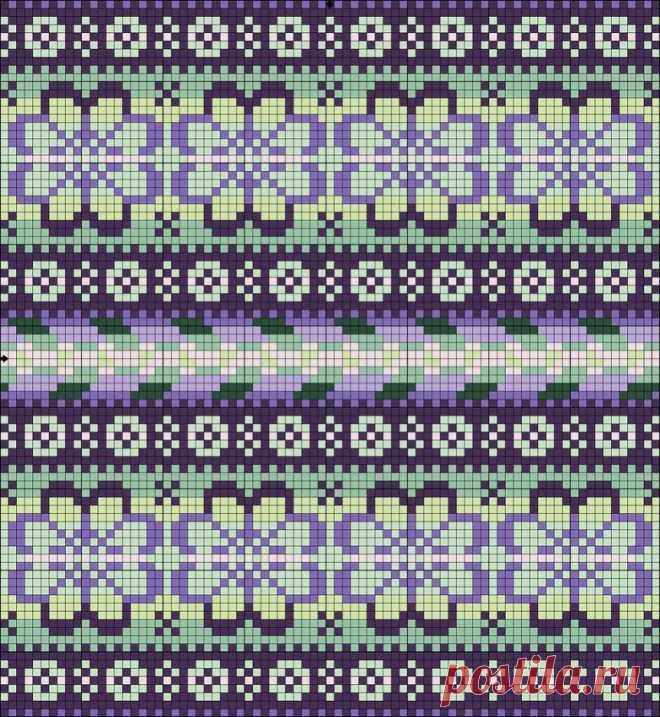Жаккардовые узоры спицами - пошаговые схемы-инструкции для начинающих
