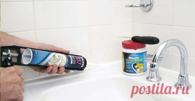 Обновляем силиконовый шов в ванной — Наши дома