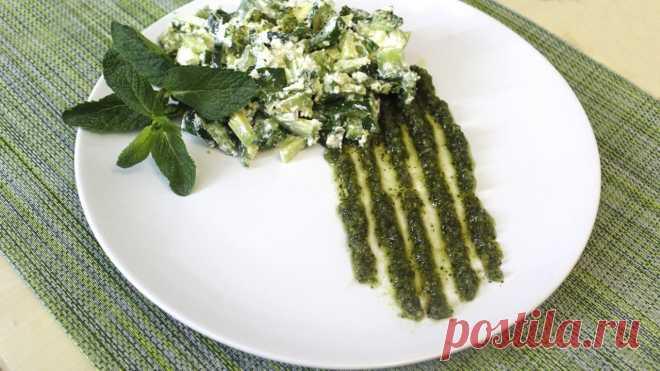 """Салат """"Халк"""" Зеленый питательный салат с авокадо, огурцом и сыром фета насытит Вас отличным вкусом и наполнит пользой для организма! Особую нежную пикантность и изысканный средиземноморский акцент придаст итальянс…"""