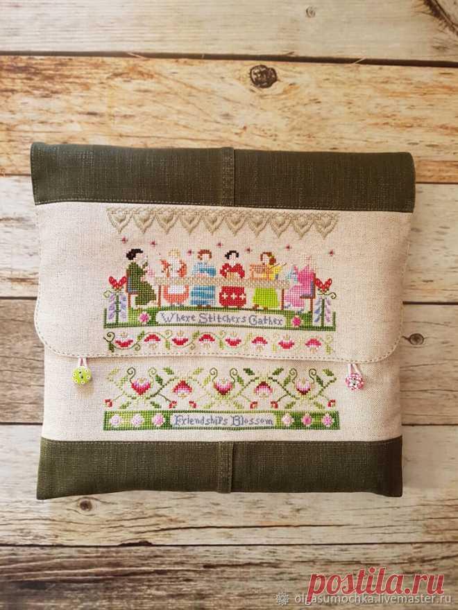 6584c94fdc4e Как сшить сумку-конверт для вышивального проекта на куснапах – Ярмарка  Мастеров