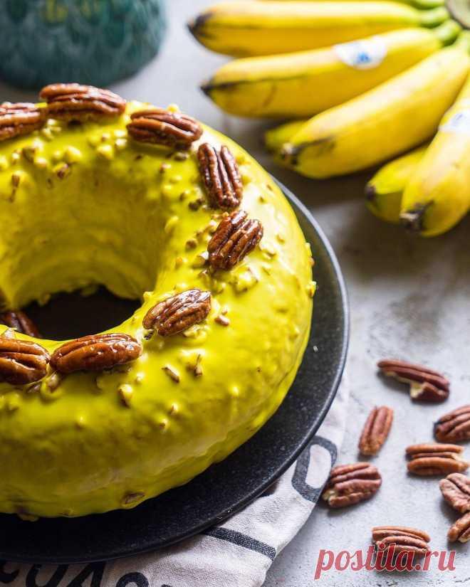 Банановый кейк с орехами пекан   Andy Chef (Энди Шеф) — блог о еде и путешествиях, пошаговые рецепты, интернет-магазин для кондитеров  