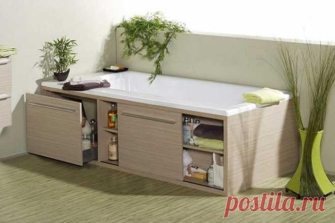 5 способов грамотно заполнить место под ванной, чтобы увеличить полезную площадь комнаты