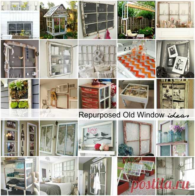 Repurposed Old Window Ideas - The Idea Room