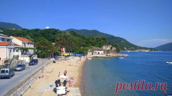 Sidro (Anchor) beach, Meljine, Herceg Novi, Montenegro.   Mapio.net Zapperix Zalle