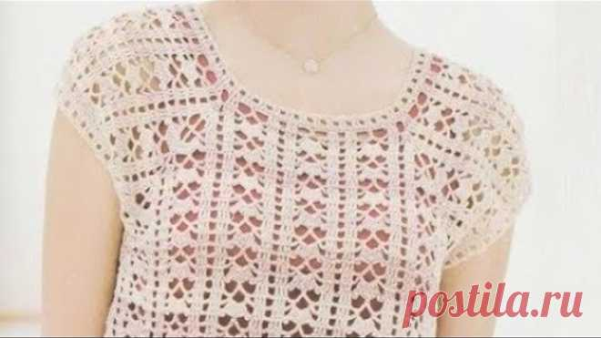 УЗОР крючком для топа - Crochet PATTERN for top