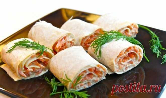 Рулет из лаваша с корейской морковью — Sloosh – кулинарные рецепты