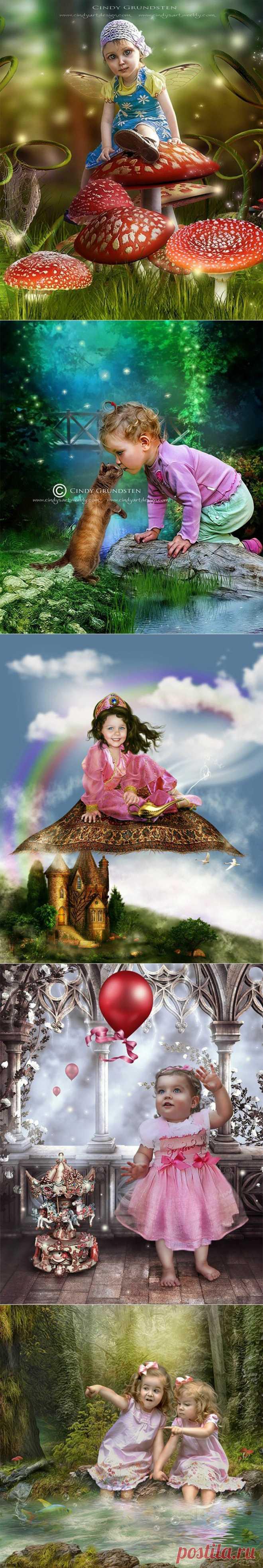 Волшебный мир детства от Cindy Grundsten.