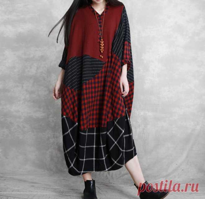 Women midi dress cocoon dress robe plus size Dresses | Etsy