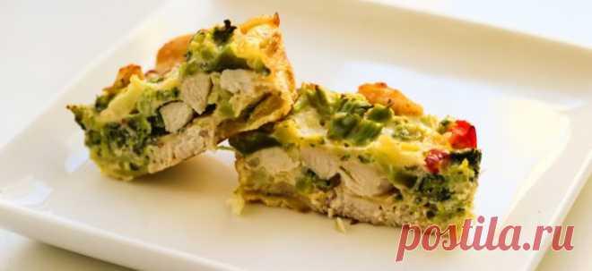 Запеканка с куриной грудкой и брокколи, питательный обед, богатый витаминами и белком!