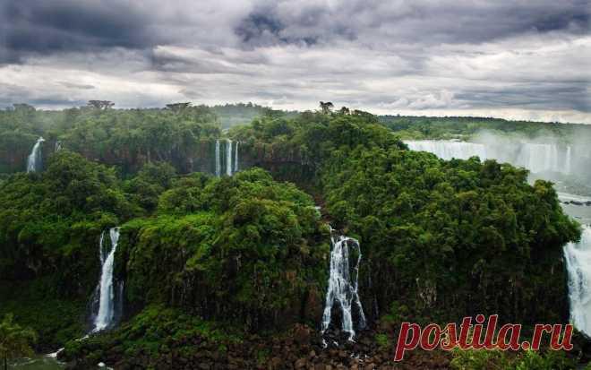 La cascada de Iguasu, Argentina