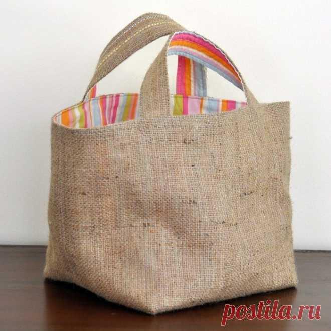 Идеи сумок и корзинок из ткани.