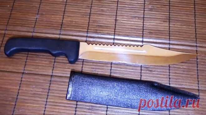 Как сделать «кожаные» ножны для ножа без кожи и ниток