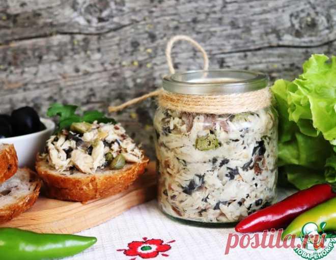 Рийет из запеченной скумбрии с каперсами – кулинарный рецепт