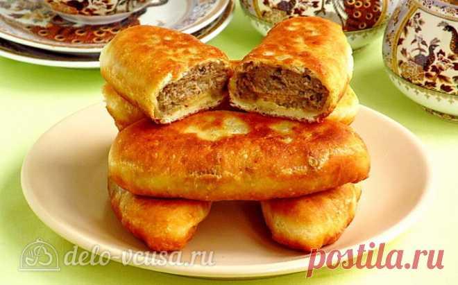 Жареные пирожки на кефире с картофелем и печенью рецепт с фото