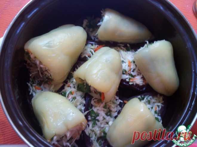 Квашеные баклажаны и перцы с капустой Кулинарный рецепт