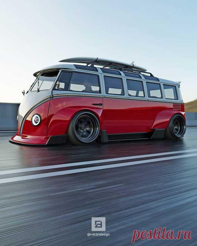 Микроавтобус Volkswagen T1 с экстремально широким кузовом стал похож на гоночный Porsche  Всем понятно, что классические маслкары или суперкары крутые. Они классно выглядят и имеют мощные моторы. Но есть и другие отличные автомобили,...