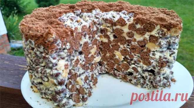 Обязательно попробуйте этот хрустящий тортик из шоколадных шариков, не пожалеете! - Best-recipes.ru Очень простой, но безумно вкусный торт. Приготовить сможет даже ребенок. Тесто для него готовить не нужно, поэтому десерт будет готов максимум через 10 минут. Тортик получается нежный, хрустящий...